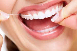 healthy smile with floss