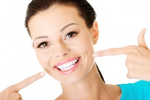 woman with a beautiful smile thanks to teeth whitening in waco